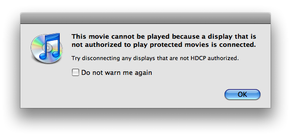 HDCPnotauthorized