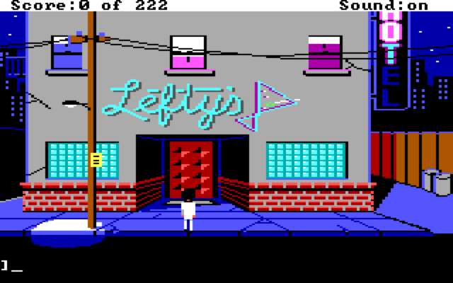 Leisure Suit Larry 1 In the Land of the Lounge Lizards 1