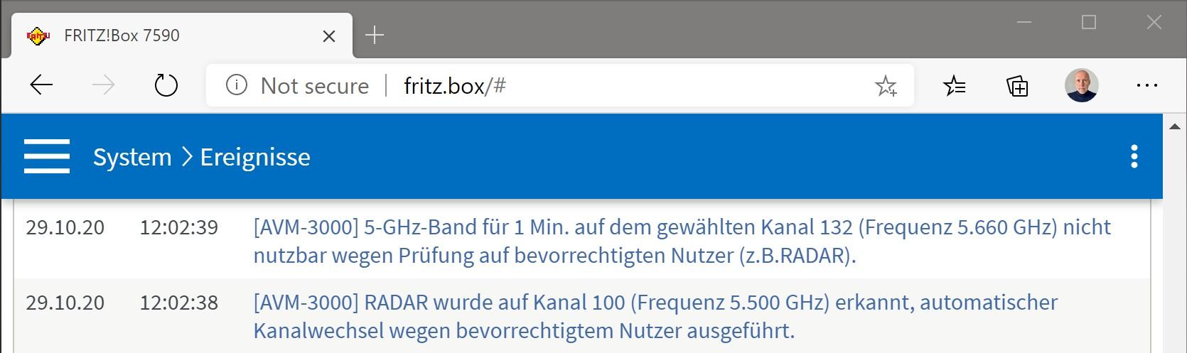 vowe dot net  Fritzbox WLAN mit 20GHz funktioniert nicht