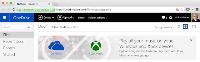 vowe dot net :: OneDrive + Xbox Music