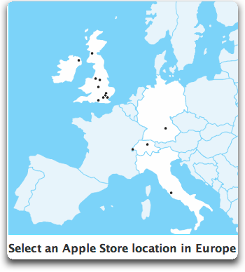 apple stores in europe