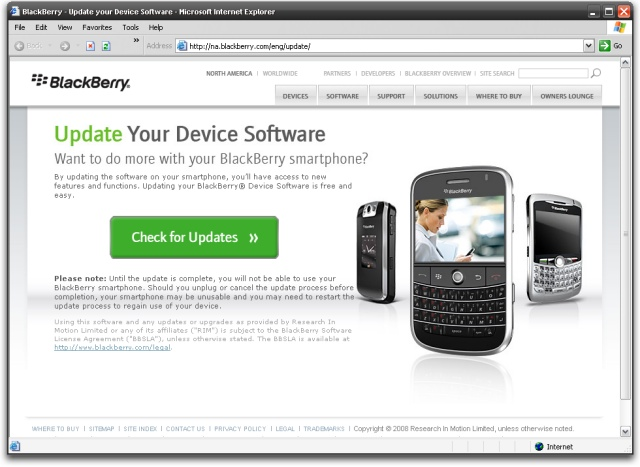 updating blackberry os 4.5