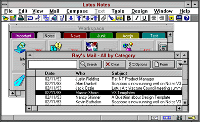 Lotus Notes Version 3