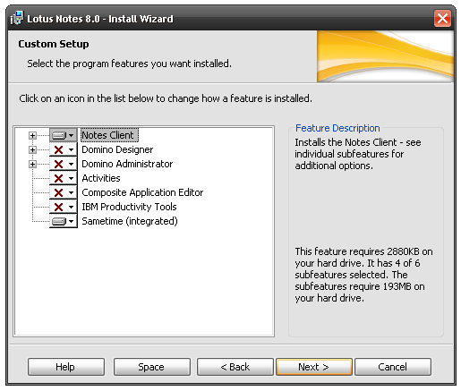 Notes default install