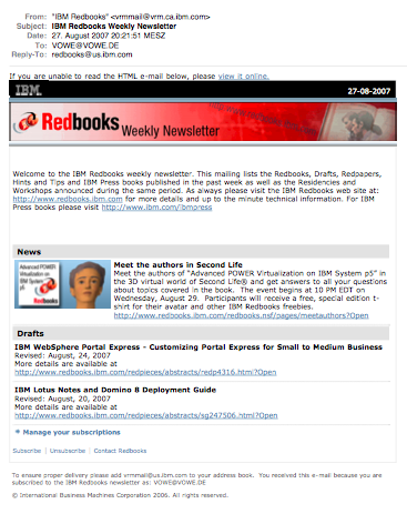 redbooks newsletter